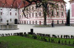 Česká spořitelna Chill-out Zone in the Třeboň chateau courtyard