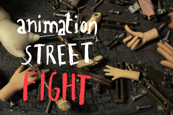 Animation street fight