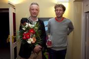Hlavní cenu Anifilmu si převzali režisér filmu Tomáš Luňák a výtvarník Jaromír 99.