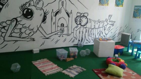 Dětský koutek ve Festivalovém centru